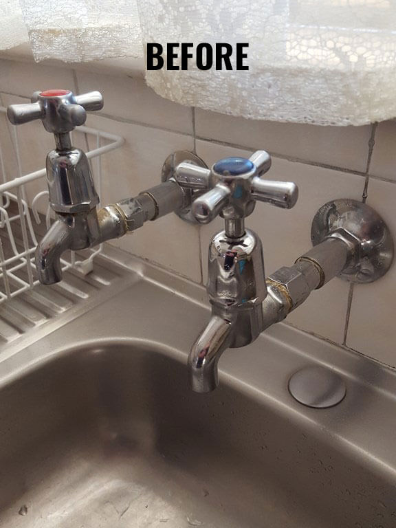 Bingham Plumbing & Gas - Old Dripping Taps Before Replacement